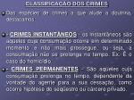 classifica o dos crimes