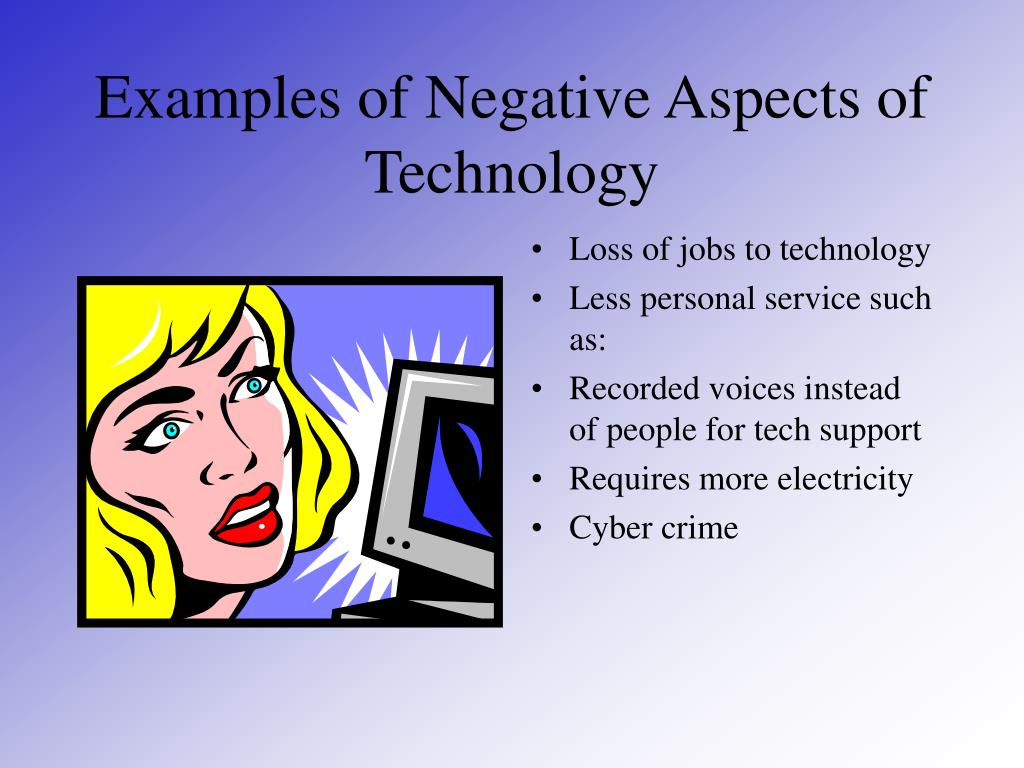 Examples of Negative Aspects of Technology