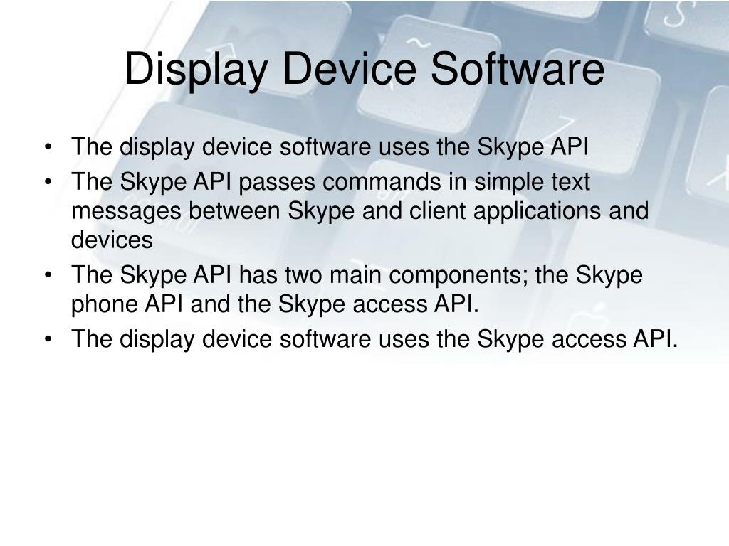 Display Device Software