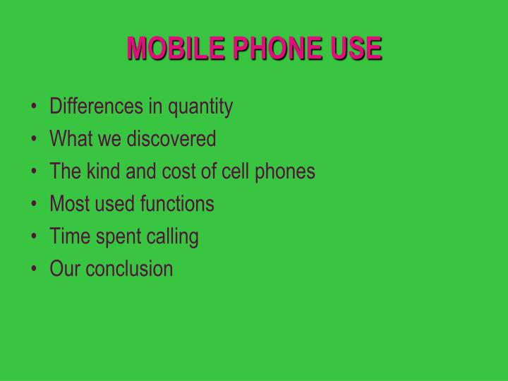 Mobile phone use2