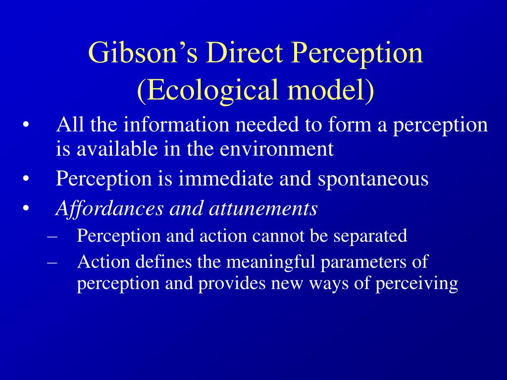 Gibson's Direct Perception