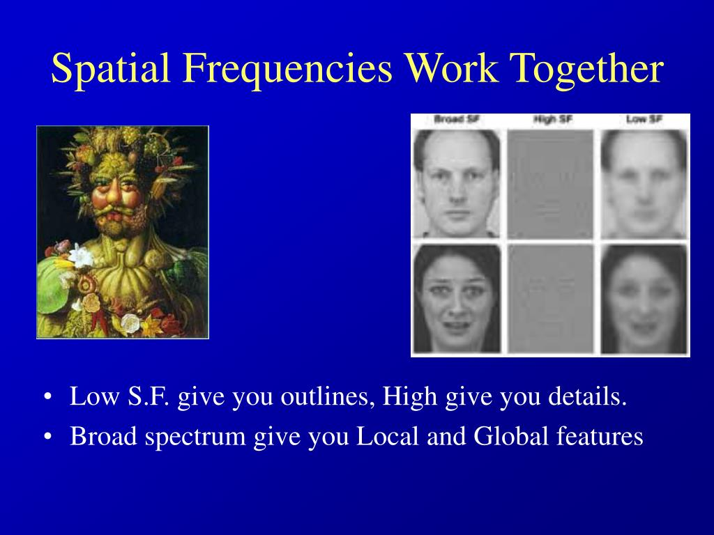 Spatial Frequencies Work Together