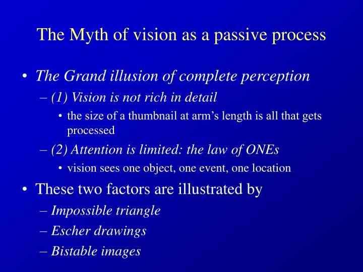 The myth of vision as a passive process