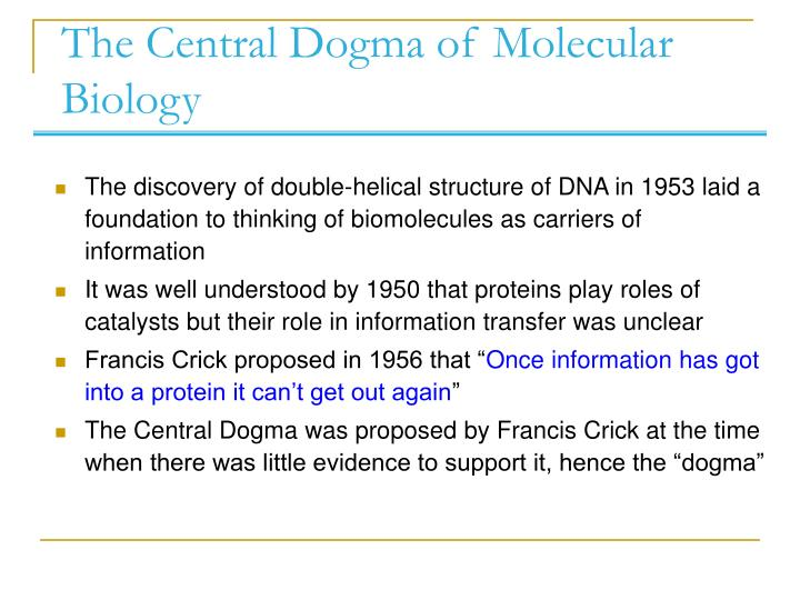 The central dogma of molecular biology l.jpg