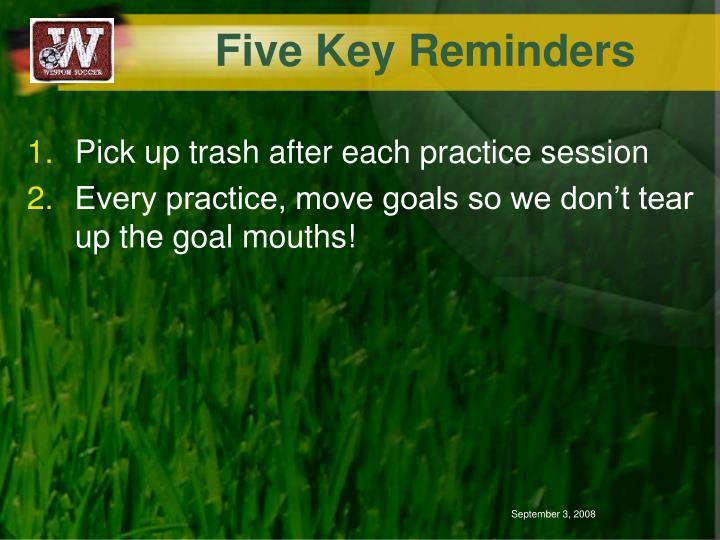 Five Key Reminders