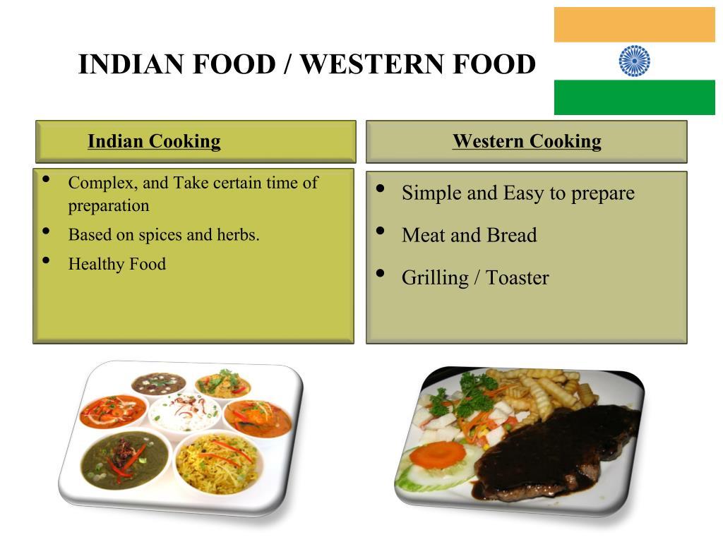INDIAN FOOD / WESTERN FOOD