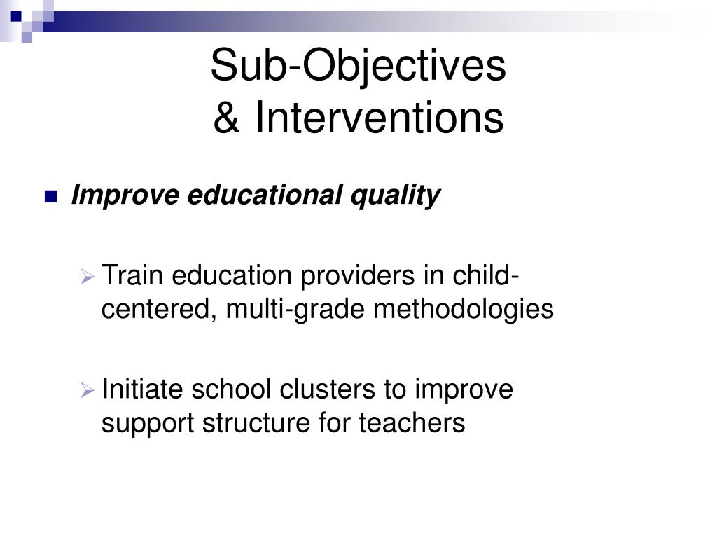 Improve educational quality