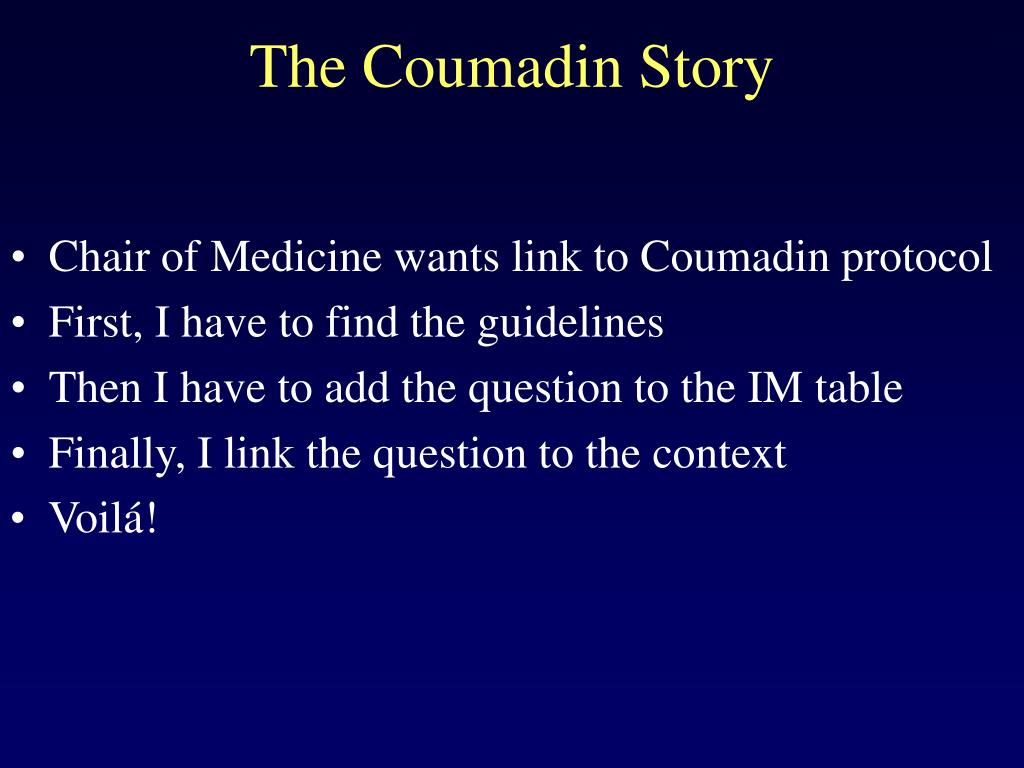 The Coumadin Story