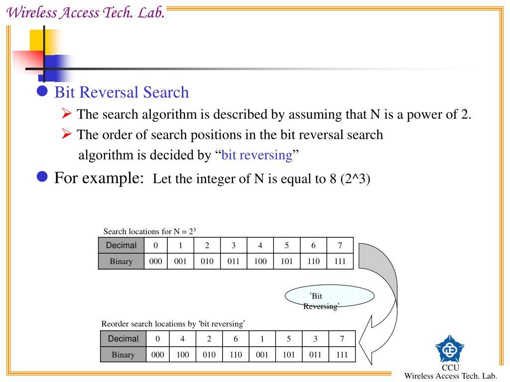Bit Reversal Search