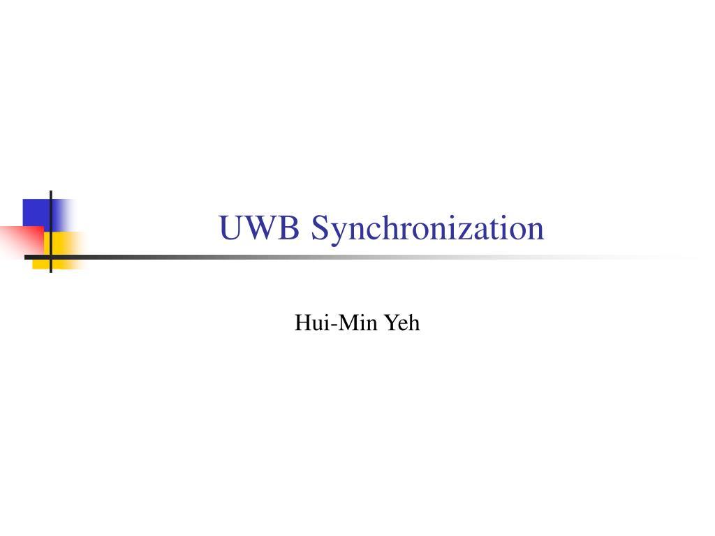 UWB Synchronization