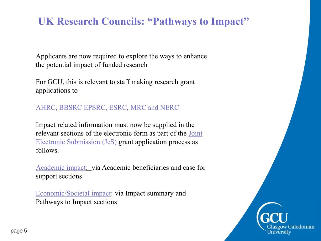 "UK Research Councils: ""Pathways to Impact"""