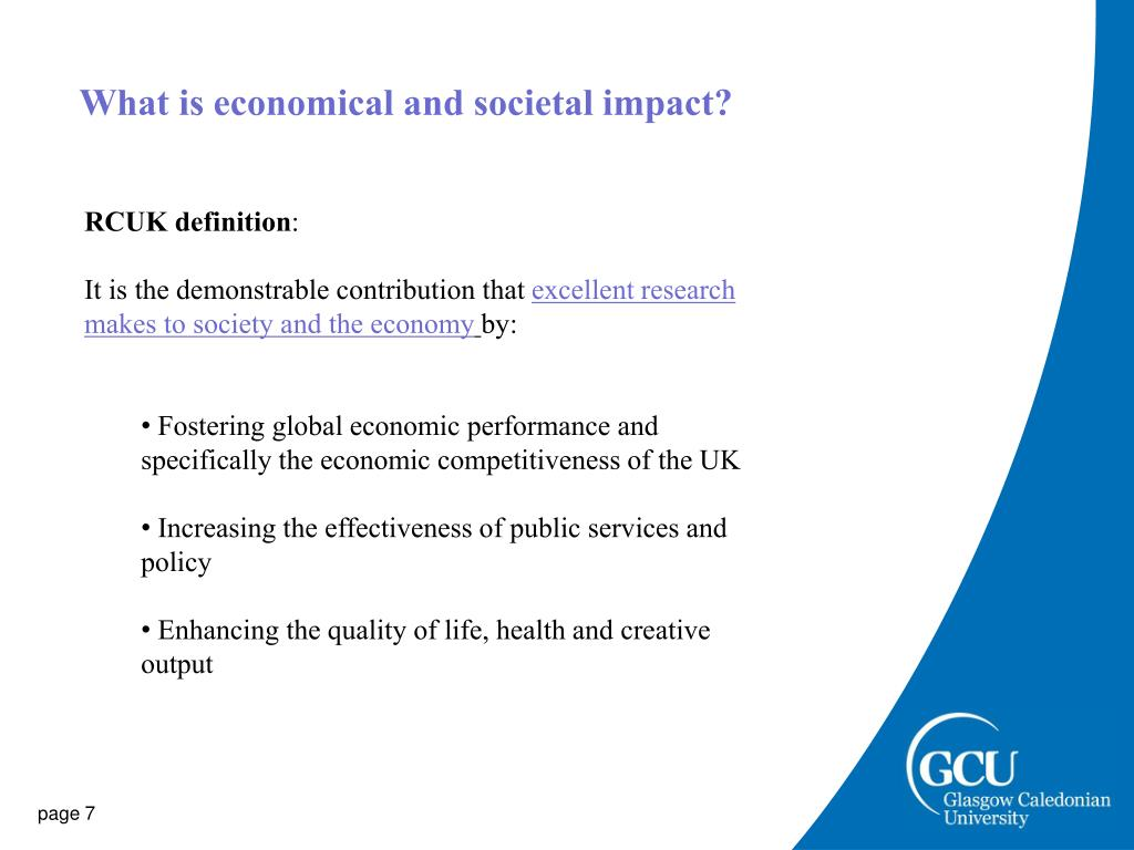 What is economical and societal impact?