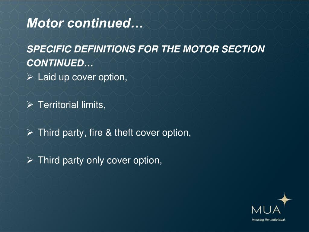 Motor continued…