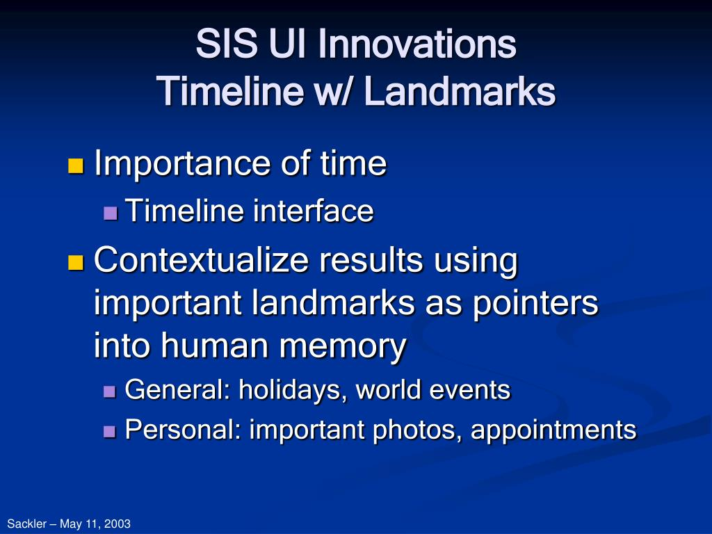 SIS UI Innovations