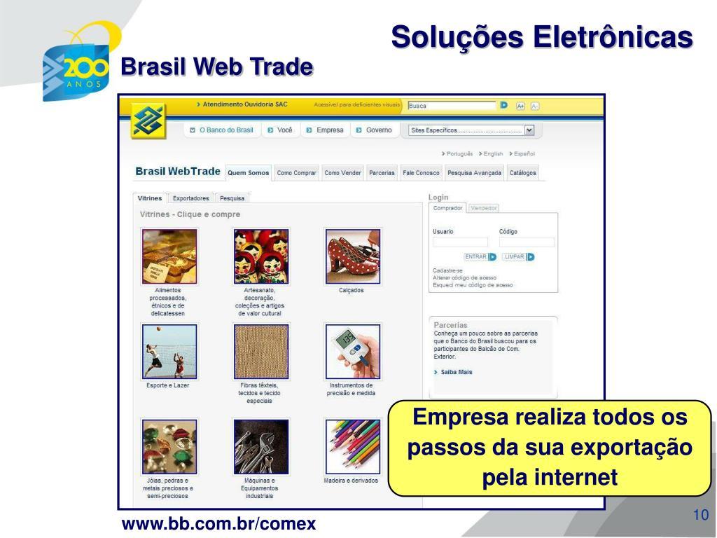 Empresa realiza todos os passos da sua exportação pela internet