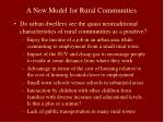 a new model for rural communities59