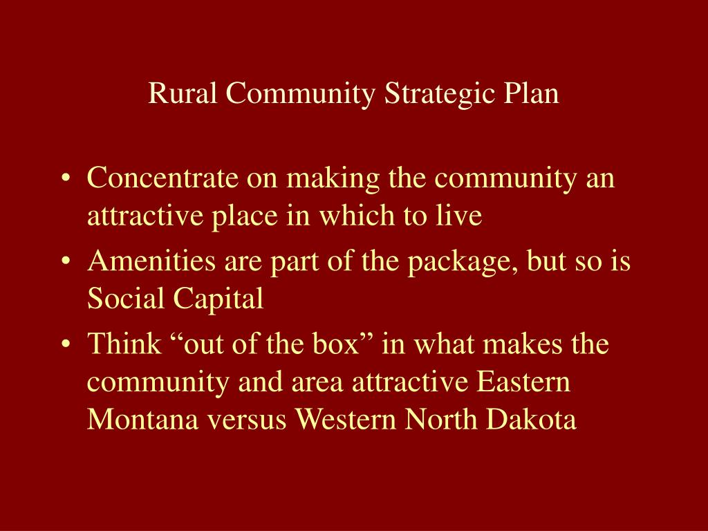 Rural Community Strategic Plan