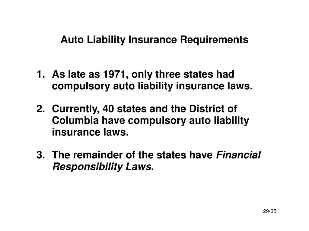 Auto Liability Insurance Requirements