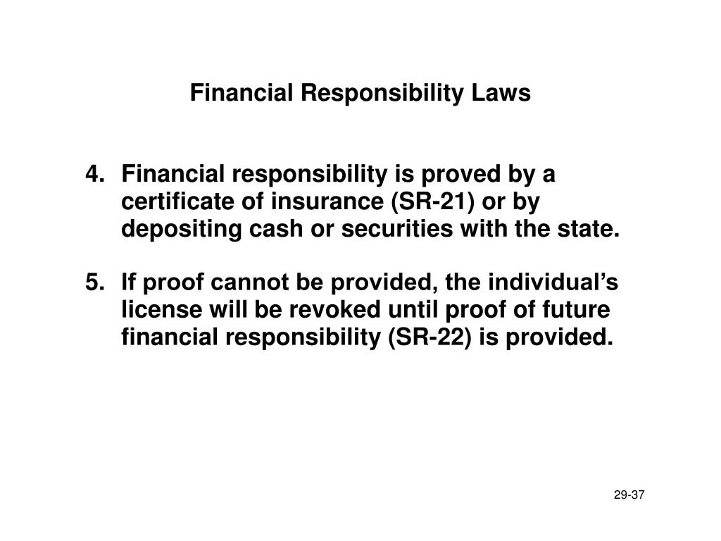 Financial Responsibility Laws