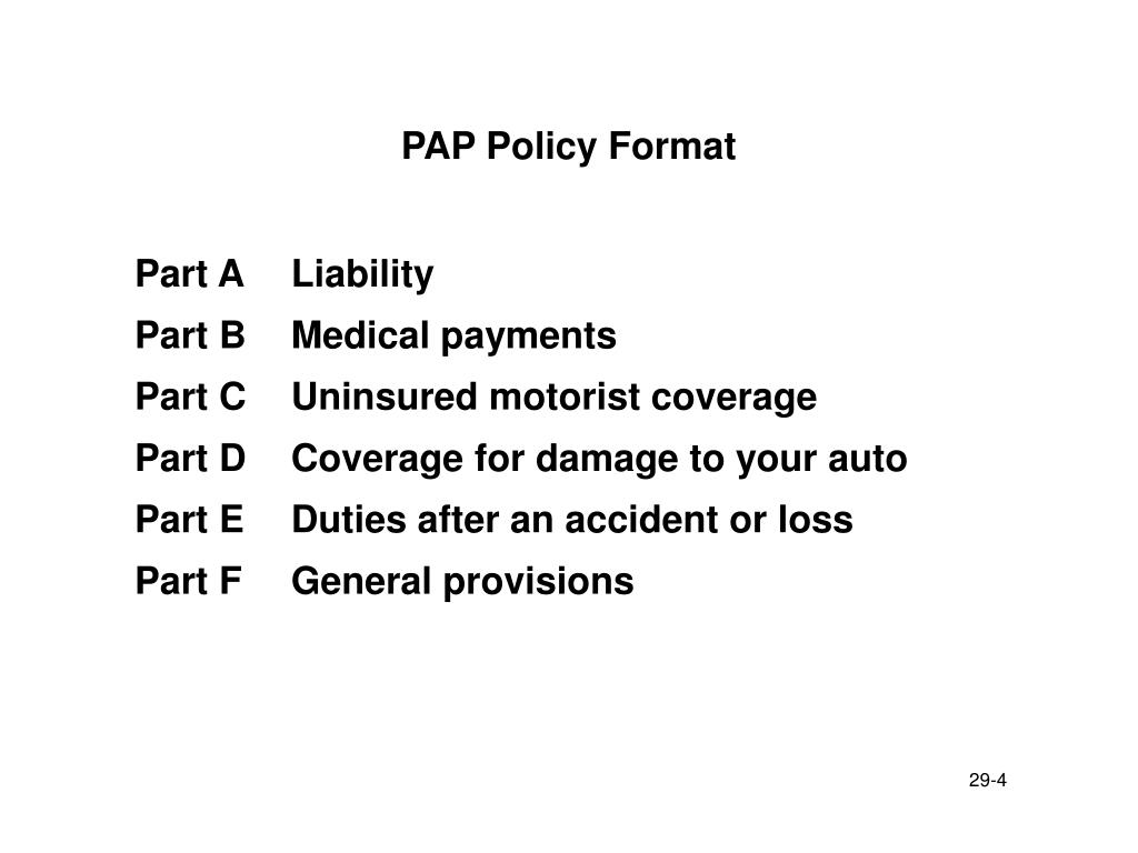 PAP Policy Format