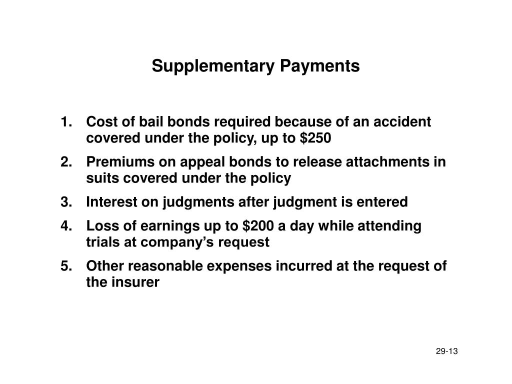 Supplementary Payments