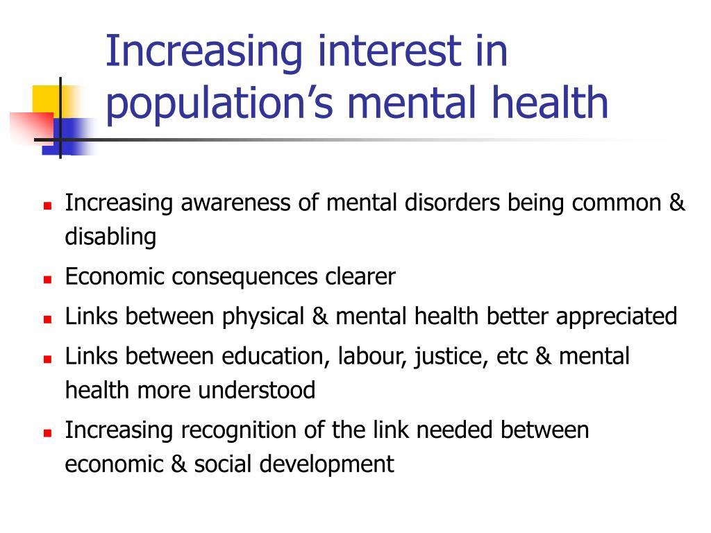Increasing interest in population's mental health