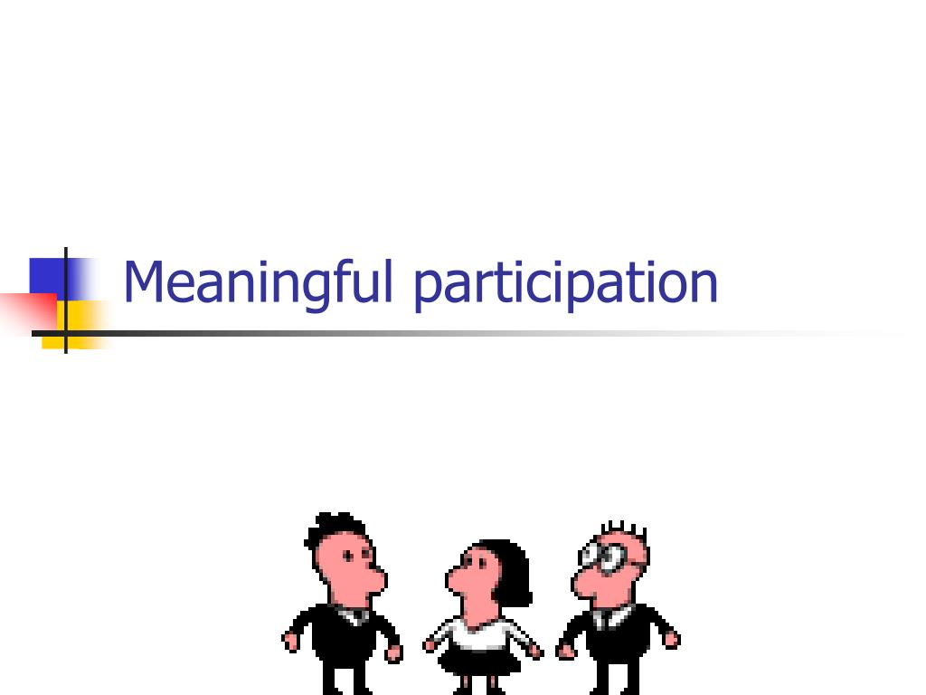 Meaningful participation