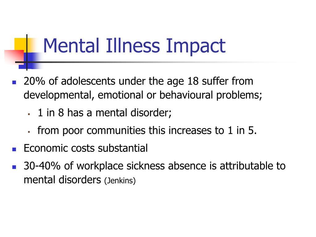 Mental Illness Impact
