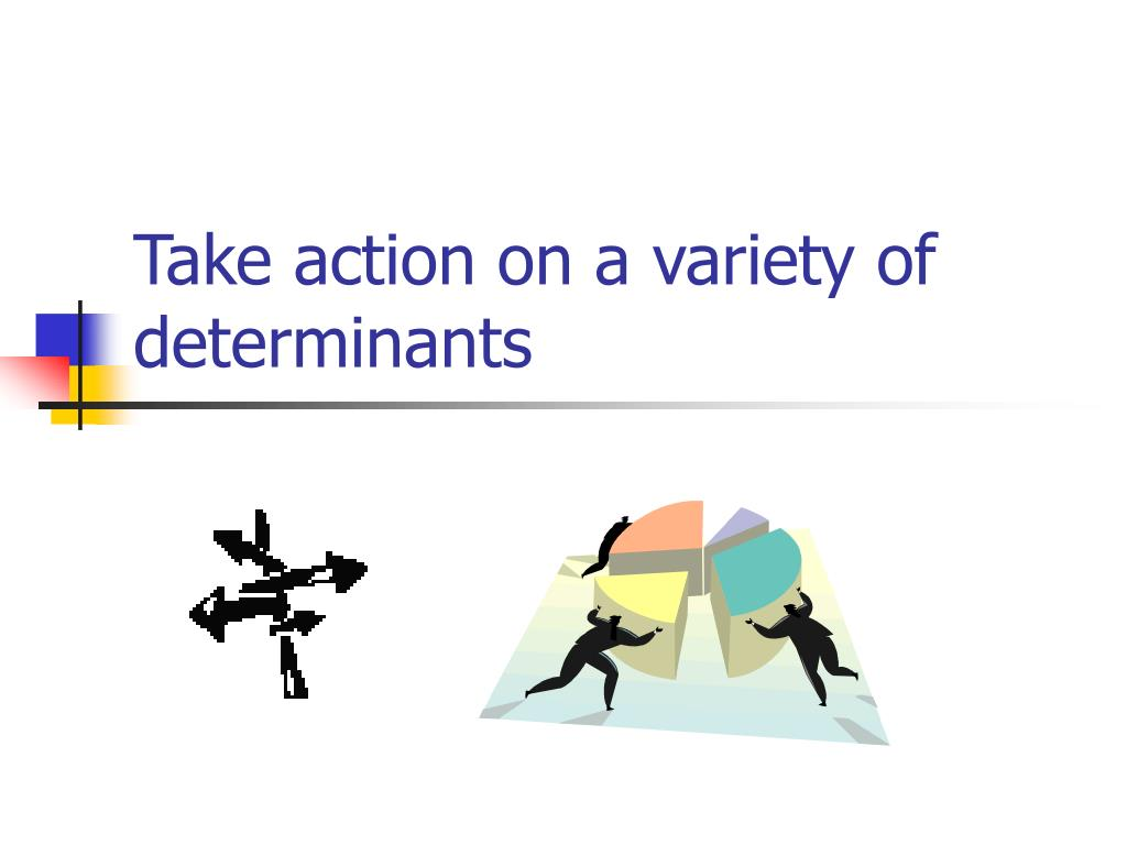 Take action on a variety of determinants
