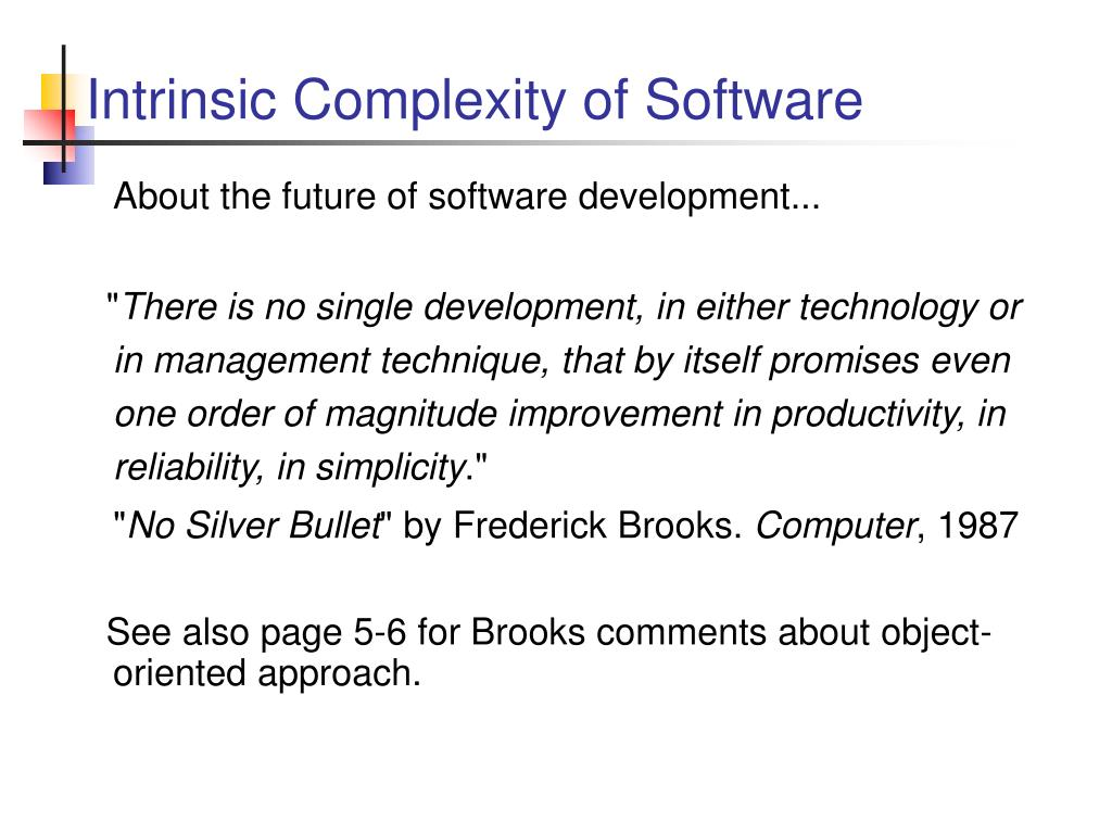 Intrinsic Complexity of Software