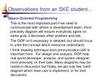 observations from an ske student