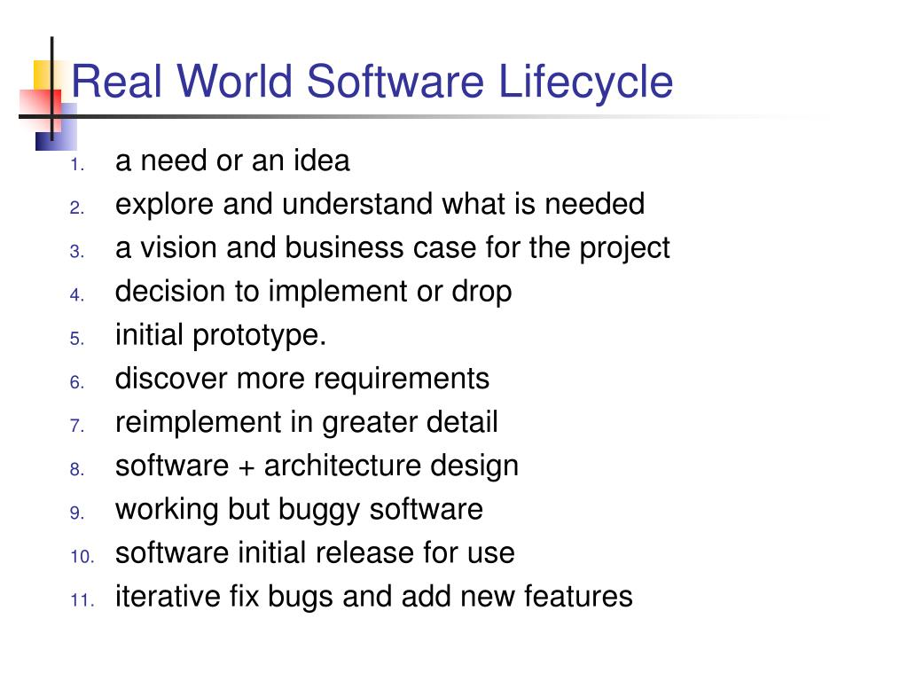 Real World Software Lifecycle
