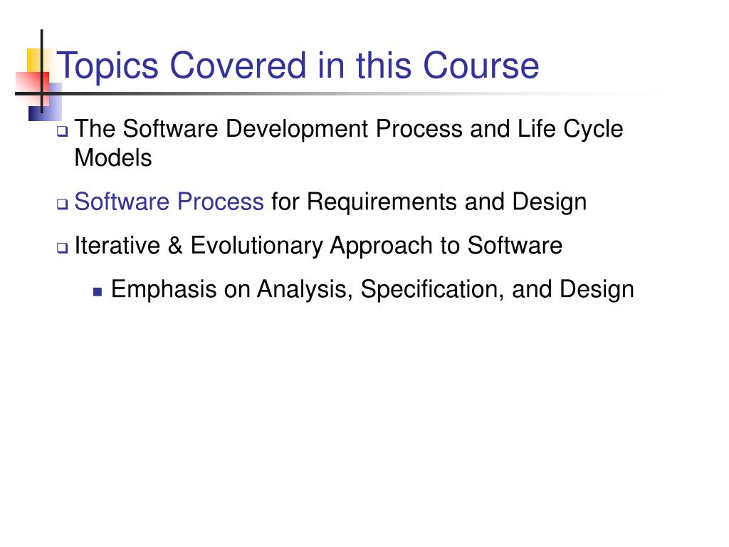 Topics Covered in this Course