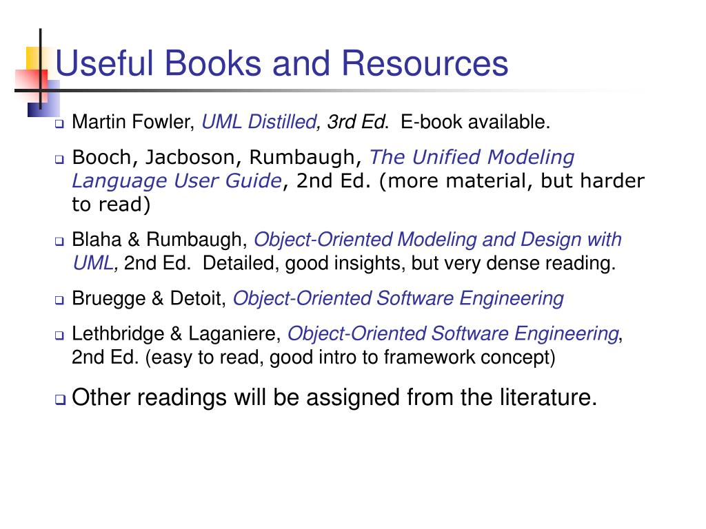 Useful Books and Resources