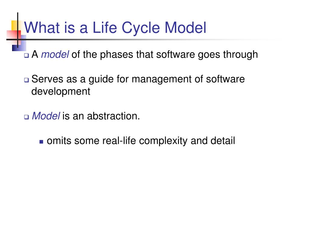 What is a Life Cycle Model