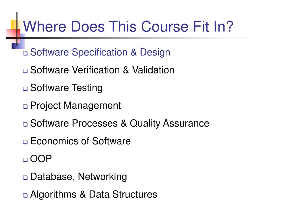 Where Does This Course Fit In?