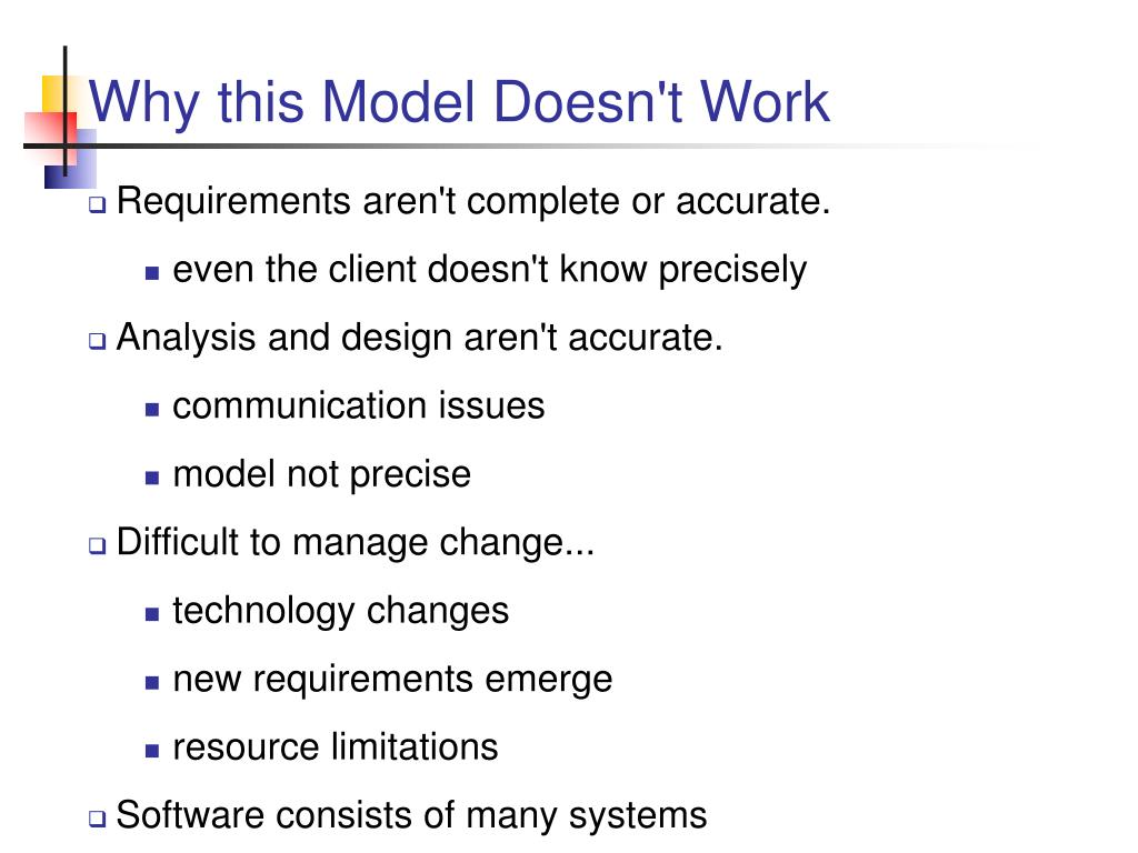 Why this Model Doesn't Work