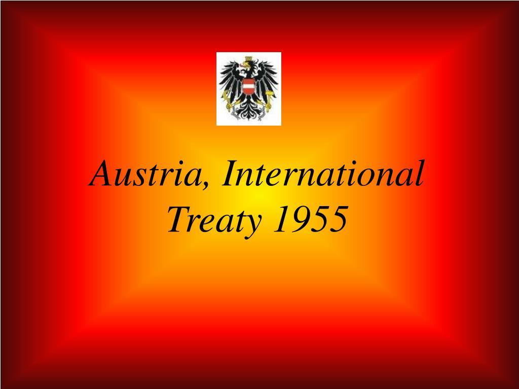 Austria, International Treaty 1955