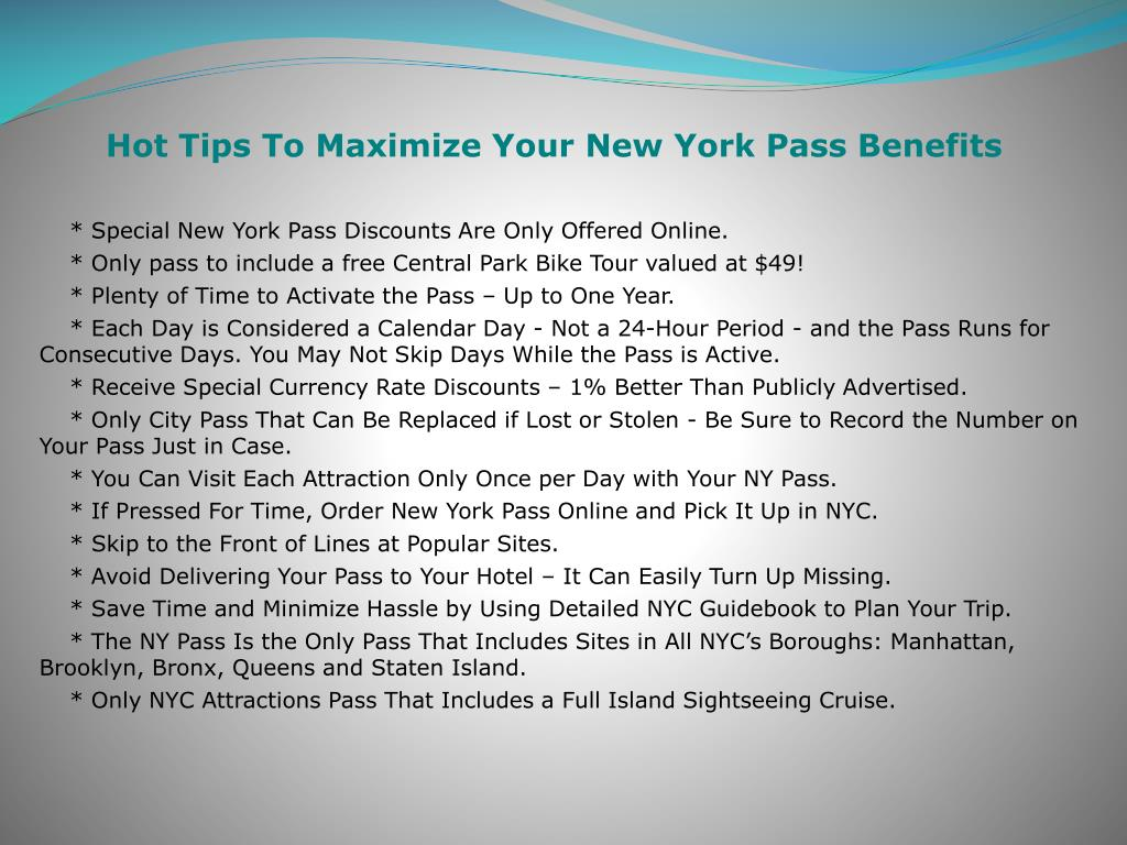Hot Tips To Maximize Your New York Pass Benefits