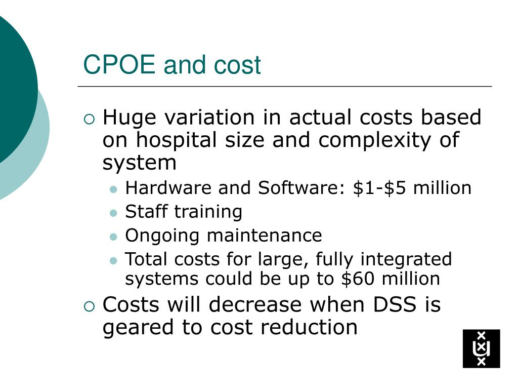 CPOE and cost