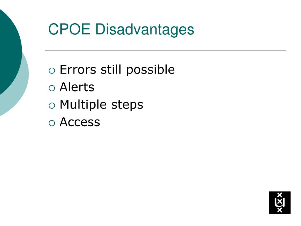 CPOE Disadvantages