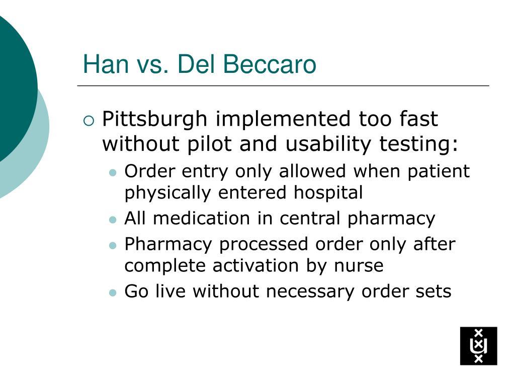 Han vs. Del Beccaro