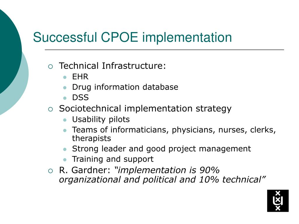 Successful CPOE implementation