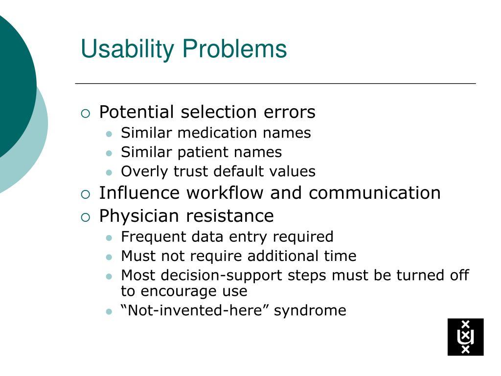 Usability Problems