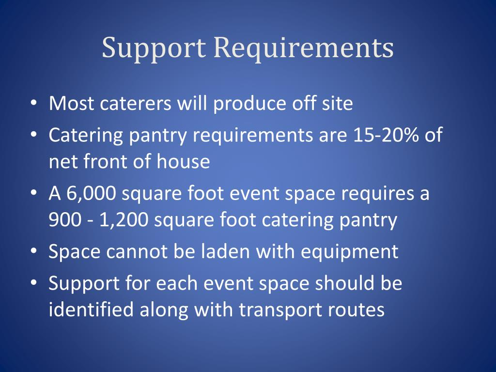 Support Requirements