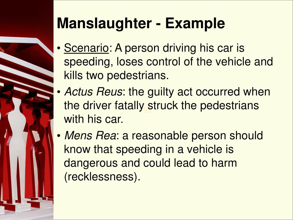 Manslaughter - Example