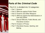 parts of the criminal code