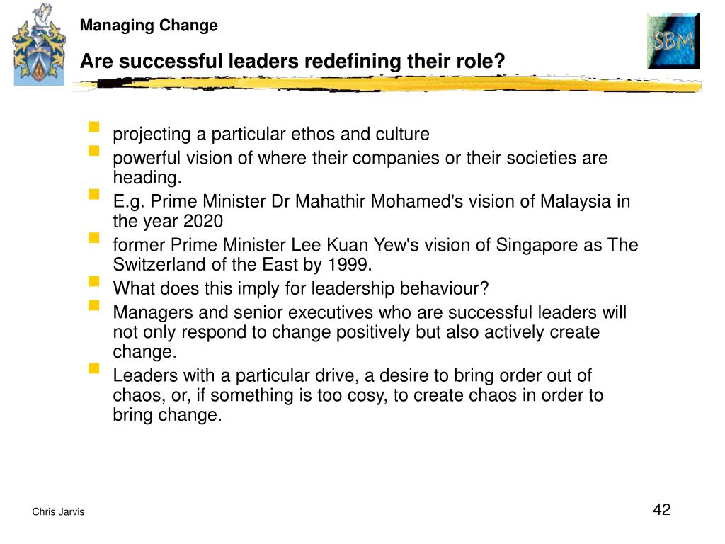 Are successful leaders redefining their role?