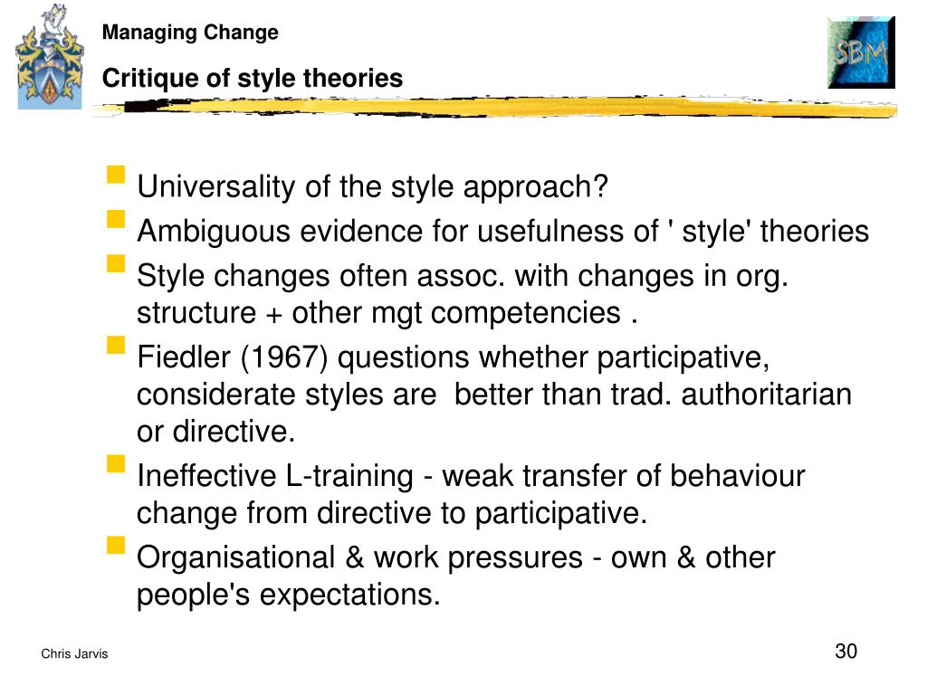 Critique of style theories