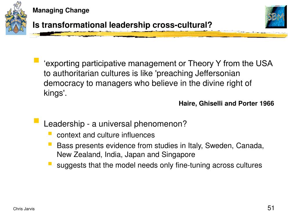 Is transformational leadership cross-cultural?